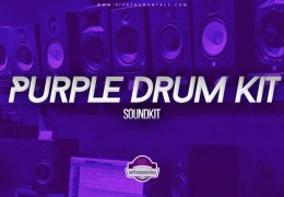 Purple Drum Kit (Drumkit)