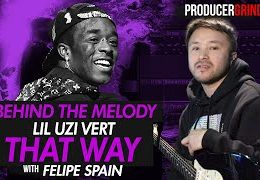 "Video: The Making of Lil Uzi Vert ""That Way"" Guitar Melody w/ Felipe Spain"