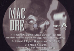 Mac Dre – I Need A Eighth (Instrumental) (Prod. By Johnny Z)